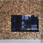 StoneslikeStones_Mosaikholz_07054_–_MH08-N_–_BLOCK_NUSS_SPLIT_–_TV-Wand